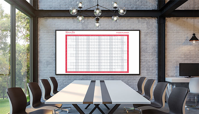 Free FY2020 wall planner from Roxanne Grey marketing and branding consultant
