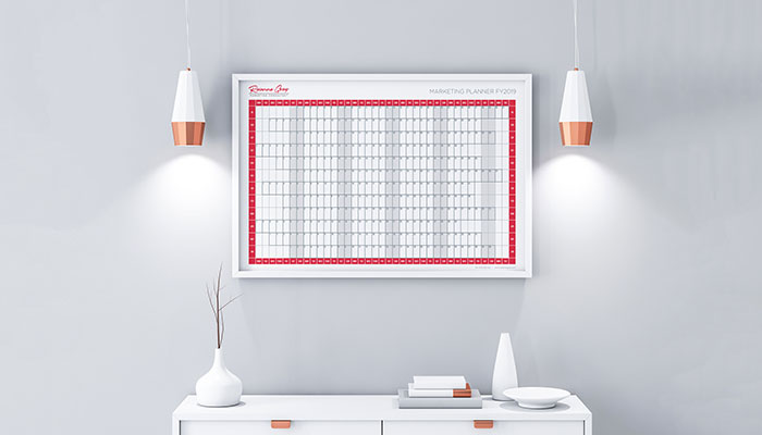 Free marketing wall planner